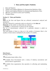 Chapter 1- Introduction to Statistics
