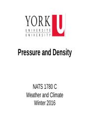 NATS 1780 C Lecture (Winter 2016)_ Pressure and Density