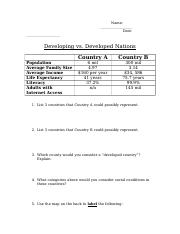 Developing Nations Homework (1)