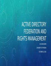 Active Directory Federation and Rights management.pptx