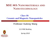 Lecture 10 - Ceramic & magnetic NPs