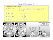 PHY231 lecture2