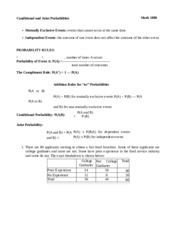 conditional and joint probability - worksheet.docx