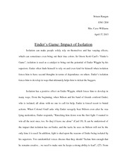 a thousand splendid suns isp essay sriramrangan engd mrs  3 pages enders game essay