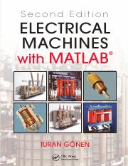 Gonen, Turan Electrical Machines with MATLAB®, Second Edition