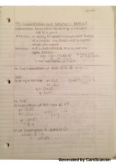 Linearization and Newton Notes