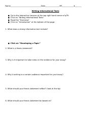 Coll 1 Int Lesson- Performance Task- The Writing Process.docx