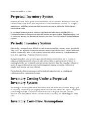 Inventories and Cost of Sales.docx