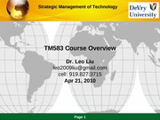 TM583 Overview Sping B 2010