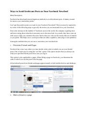 Ways to Avoid Irrelevant Posts on Your Facebook Newsfeed