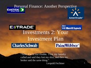 15 Investments 2 - Your Investment Plan 2012-02-27