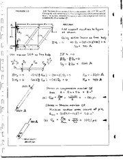 10_Mechanics Homework Mechanics of Materials Solution