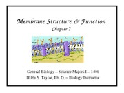 Ch. 7. - Membrane Structure and  Function of Eukaryotic Cell