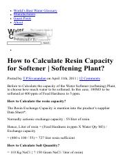 How to Calculate Resin Capacity for Softener _ Softening Plant_.pdf