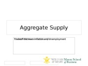 Aggregate supply student