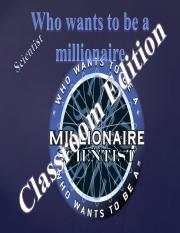 Who Wants to be Millioinaire