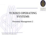 Lect W05 - Processor Mgmt 2 And Process Mgmt 1