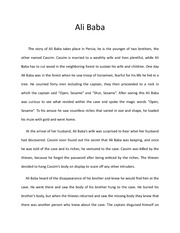 Ali baba and the forty thieves ali baba and the forty thieves this 2 pages writing assignment ali baba summary english ccuart Images