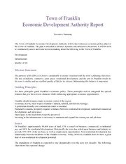 Town of Franklin Economic Development Authority Report