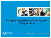 38 - Multiple Regression and Correlation