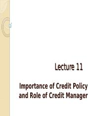Lect_11_Credit_Policy 2017