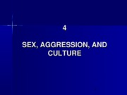 4. Sex Aggression and Culture