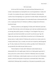 The Great Gatsby essay 1