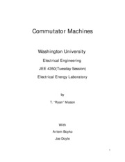 Commutator Machines
