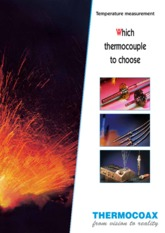 Guidelines for choice of thermocouple