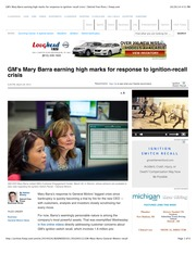 GM's Mary Barra earning high marks for response to ignition-recall crisis | Detroit Free Press | fre