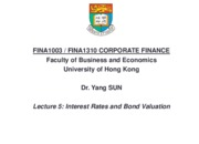 Lecture 5 Interest Rates and Bond Valuation