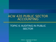 ACW 420 - Topic 6
