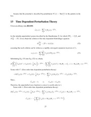 Time Dependent Perturbation Theory