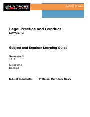 Subject and Seminar Learning Guide