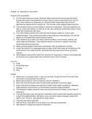 Chapter 18: Imperialism Class Notes