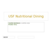 USF Nutritional Dining