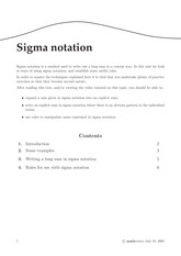 Summation Notation Problems & Solutions
