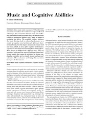 Music and Cognitive Abilities.