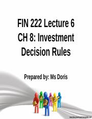 Topic 6 Investment Decision Rules.ppt