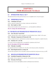 CHAPTER 8 -  Molecules to Cells (MOL S11)