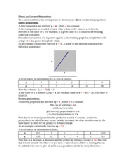 Direct and Inverse Proportions