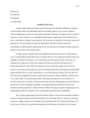 Synthesis GLE essay