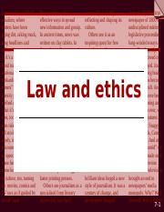 JOURNALISM LAWS AND ETHICS