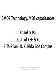 CMOS_Technology, MOS Capacitors (Topic-3)