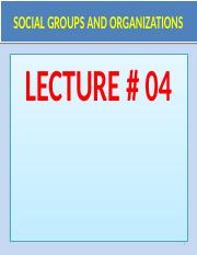 Social-Groups-Organizations.Lecture-05..pptx