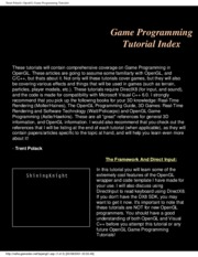 Game Programming - OpenGL Game Programming Tutorial - 2001