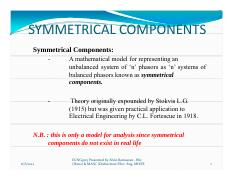 ICES - Chapter 2 - Symmetrical Components and Sequence Network