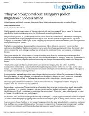 'They've brought evil out'_ Hungary's poll on migration divides a nation _ World news _ The Guardian