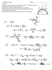 Quiz 2 AME250-F14 & Solution