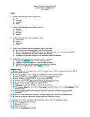 Updated Basics Practice Exam 2 KEY